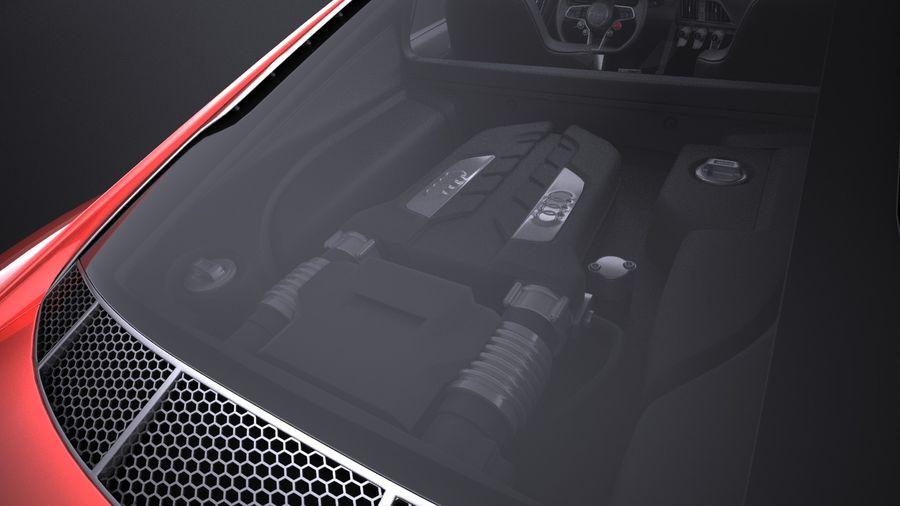 Audi R8 V10 Plus 2017 royalty-free 3d model - Preview no. 11