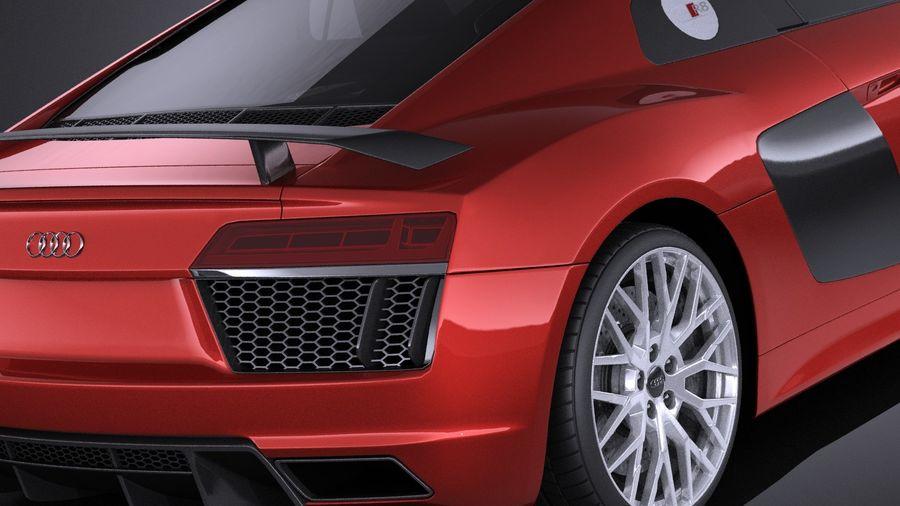 Audi R8 V10 Plus 2017 royalty-free 3d model - Preview no. 4