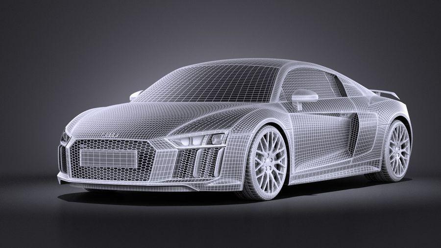 Audi R8 V10 Plus 2017 royalty-free 3d model - Preview no. 13
