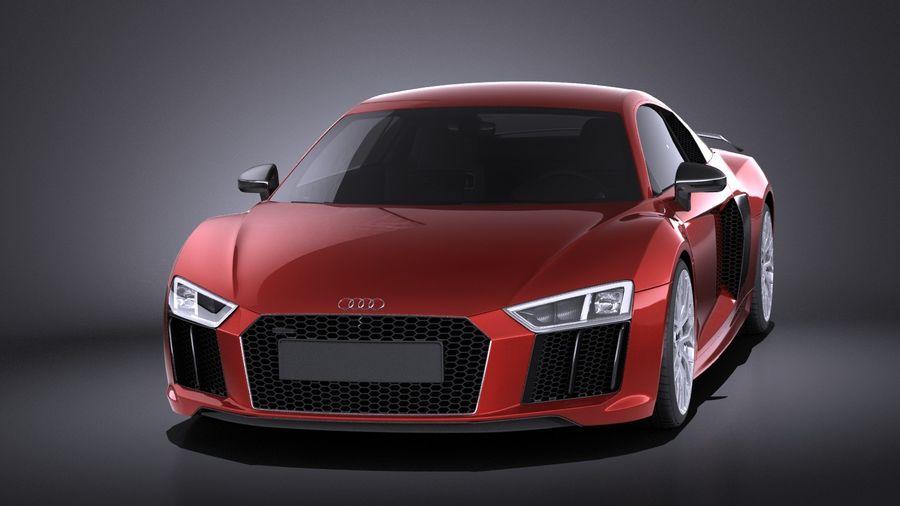 Audi R8 V10 Plus 2017 royalty-free 3d model - Preview no. 2