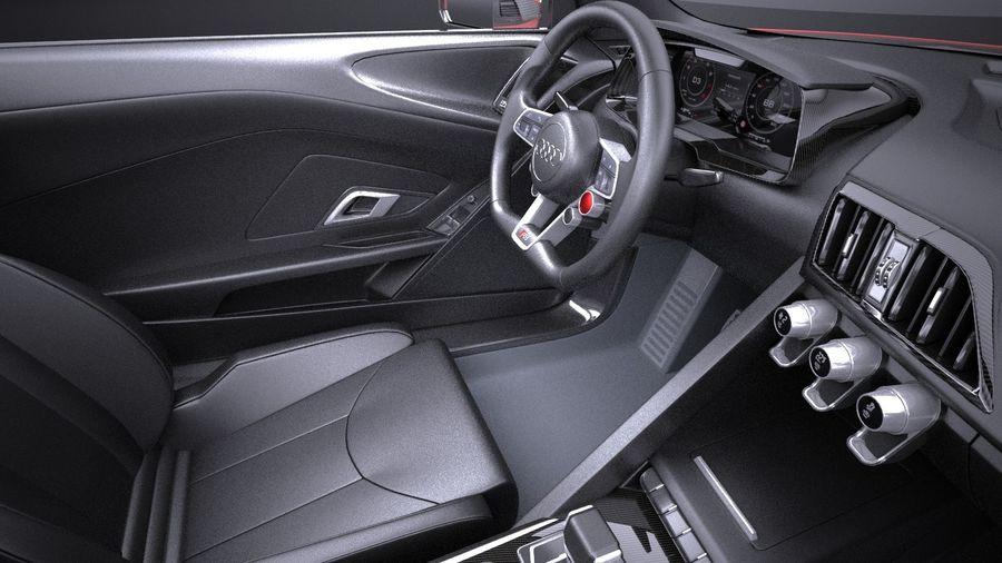 Audi R8 V10 Plus 2017 royalty-free 3d model - Preview no. 9