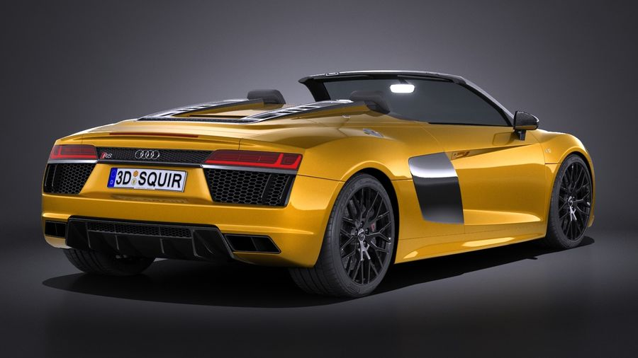 Audi R8 Spyder V10 2017 royalty-free 3d model - Preview no. 6