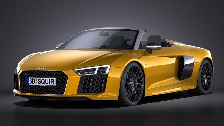 Audi R8 Spyder V10 2017 royalty-free 3d model - Preview no. 1