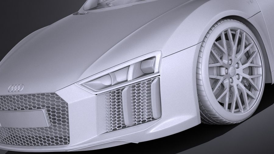Audi R8 Spyder V10 2017 royalty-free 3d model - Preview no. 13