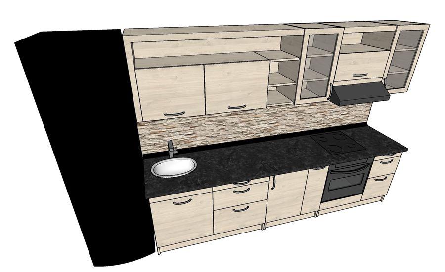 Kitchen 1 royalty-free 3d model - Preview no. 4