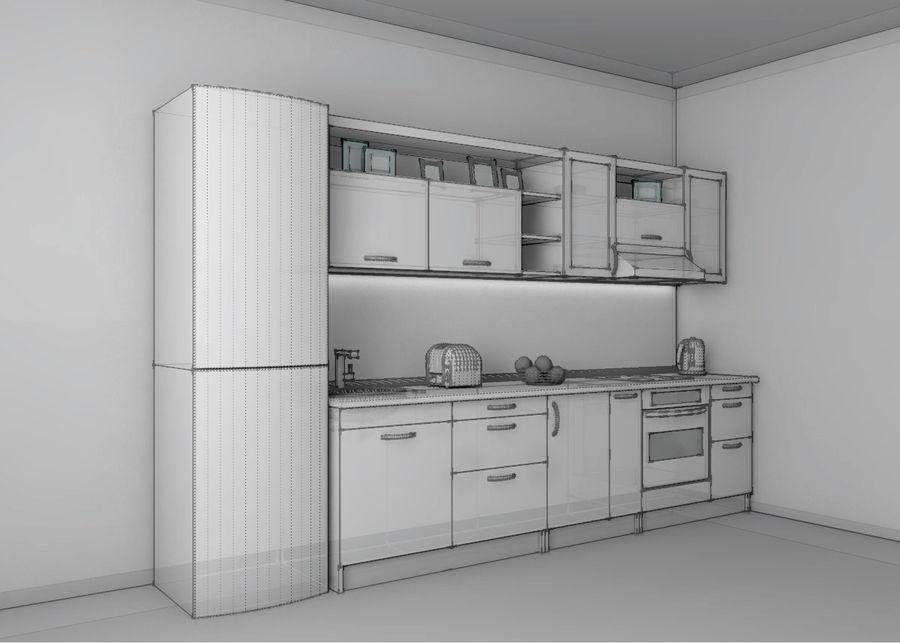 Kitchen 1 royalty-free 3d model - Preview no. 3