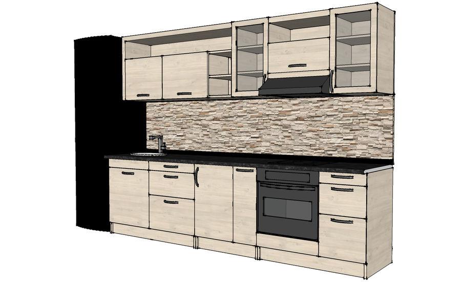 Kitchen 1 royalty-free 3d model - Preview no. 5