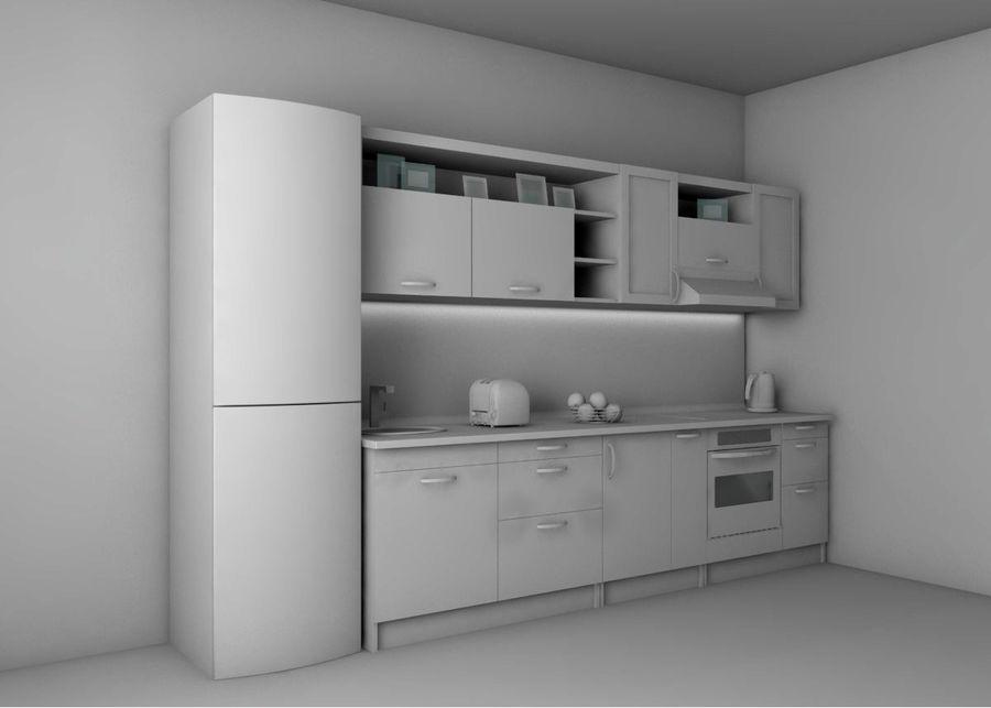 Kitchen 1 royalty-free 3d model - Preview no. 2