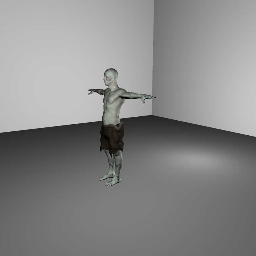Zombie royalty-free 3d model - Preview no. 3