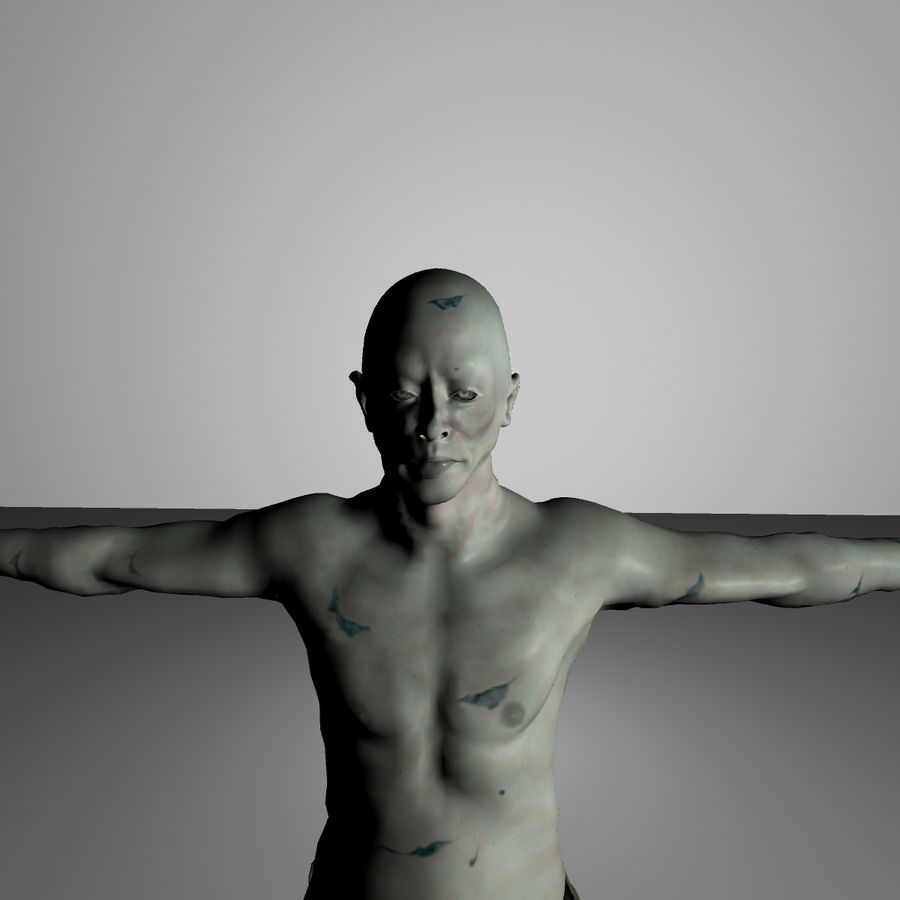 Zombie royalty-free 3d model - Preview no. 1