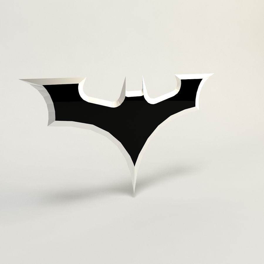 batarang de baja poli batman royalty-free modelo 3d - Preview no. 1