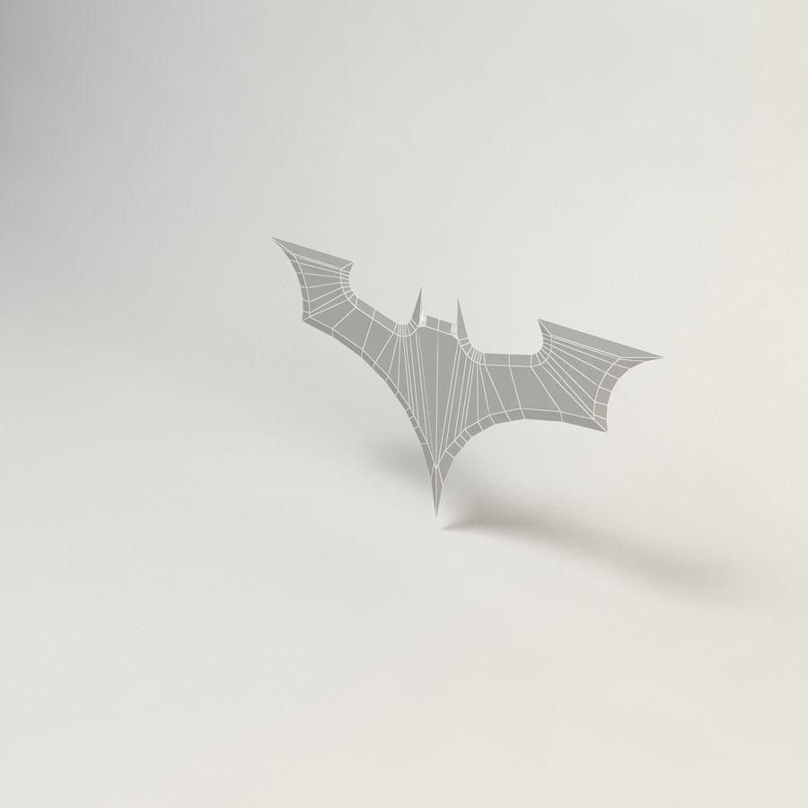 batarang de baja poli batman royalty-free modelo 3d - Preview no. 4