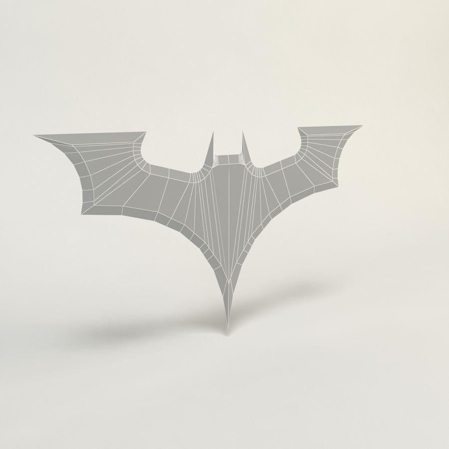 batarang de baja poli batman royalty-free modelo 3d - Preview no. 2