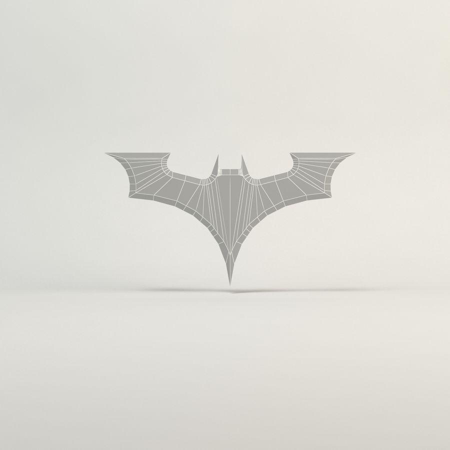 batarang de baja poli batman royalty-free modelo 3d - Preview no. 6