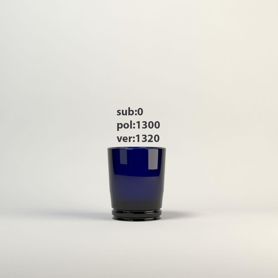 vidrio azul royalty-free modelo 3d - Preview no. 6