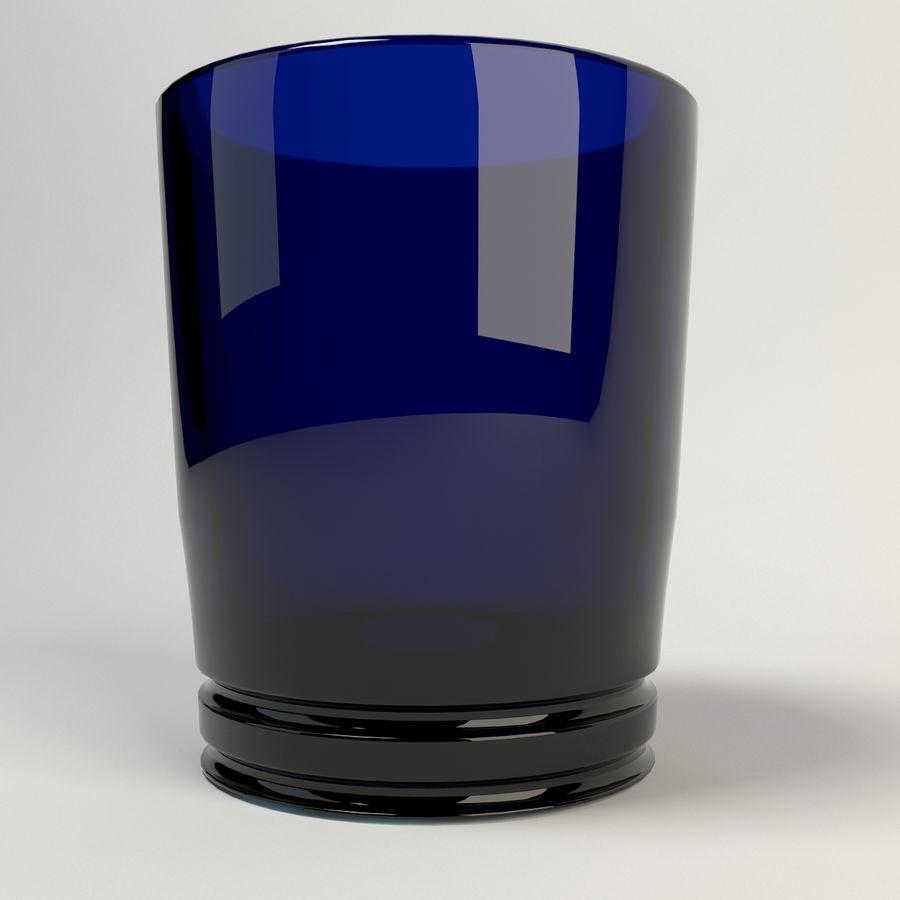 vidrio azul royalty-free modelo 3d - Preview no. 1