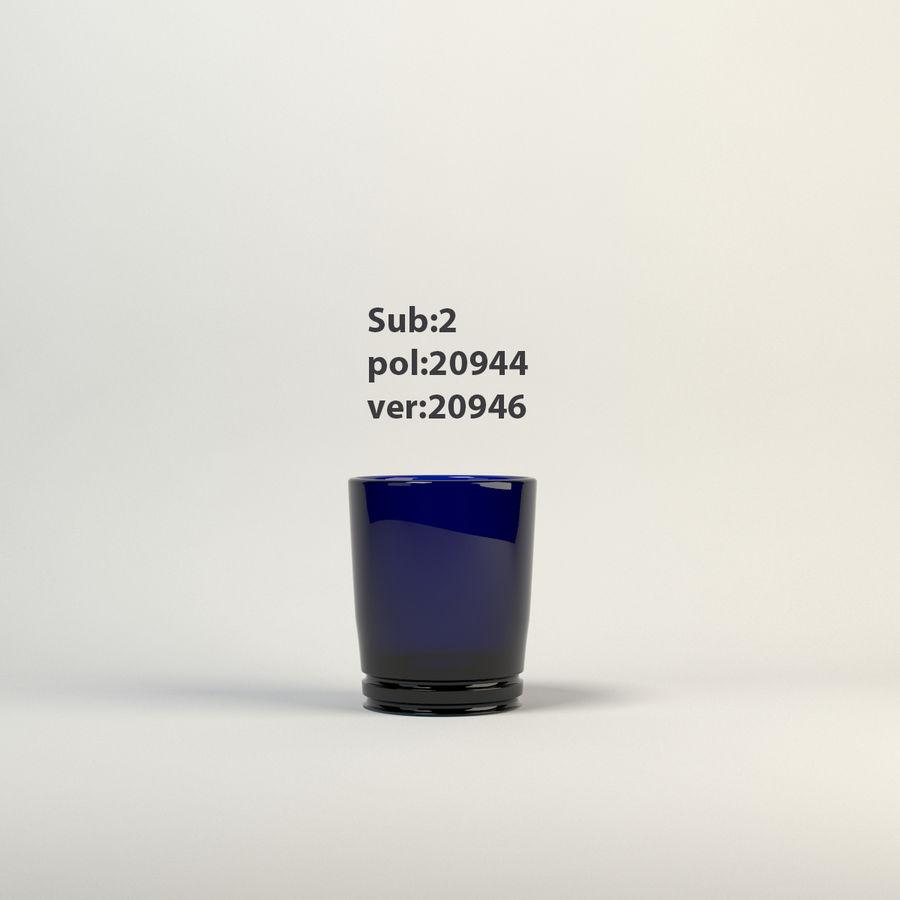 vidrio azul royalty-free modelo 3d - Preview no. 2