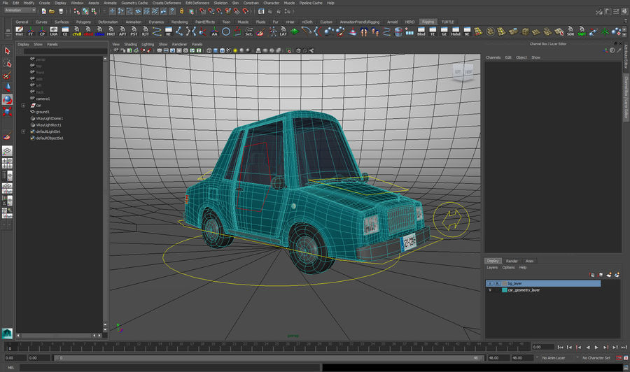 carro dos desenhos animados royalty-free 3d model - Preview no. 2