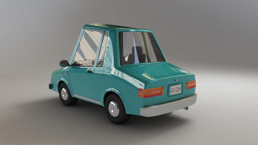 carro dos desenhos animados royalty-free 3d model - Preview no. 3