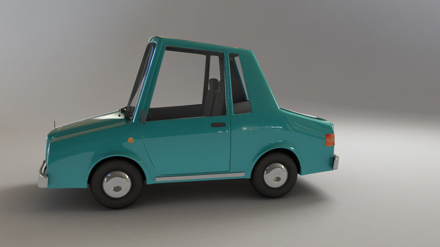 carro dos desenhos animados royalty-free 3d model - Preview no. 4