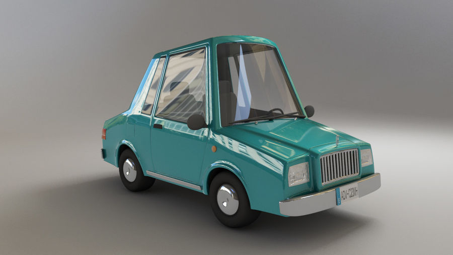 carro dos desenhos animados royalty-free 3d model - Preview no. 1