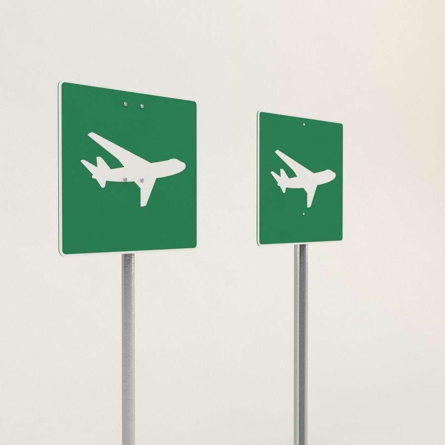 señales de aviones de bajo vuelo royalty-free modelo 3d - Preview no. 2