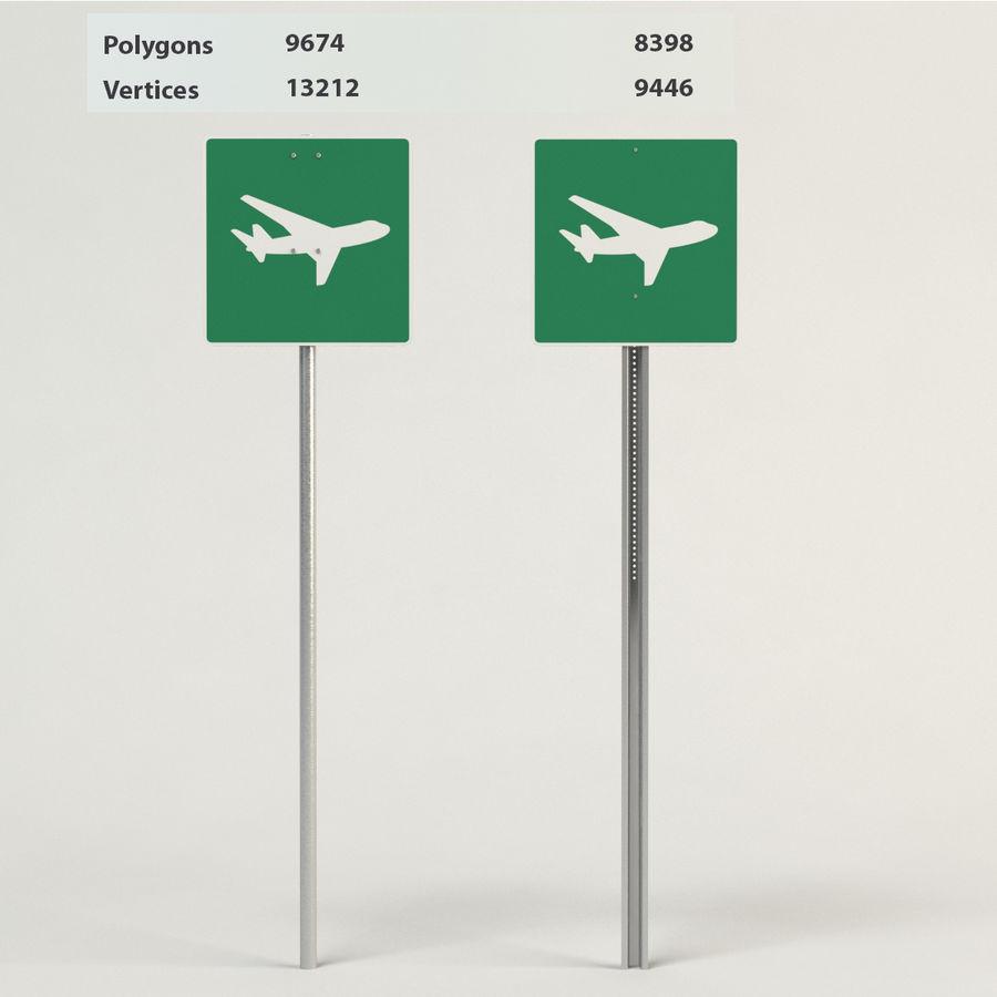 señales de aviones de bajo vuelo royalty-free modelo 3d - Preview no. 1