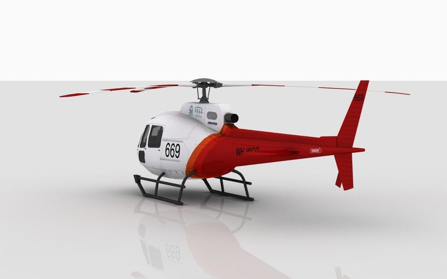 Eurocopter AS350 Skin 3 royalty-free 3d model - Preview no. 4