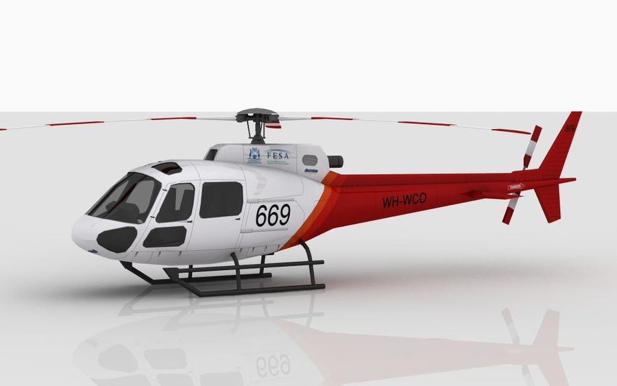 Eurocopter AS350 Skin 3 royalty-free 3d model - Preview no. 5
