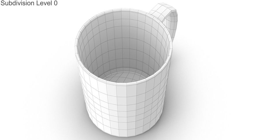 Empty Cup royalty-free 3d model - Preview no. 21