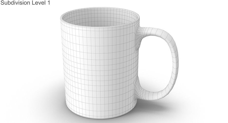 Empty Cup royalty-free 3d model - Preview no. 32