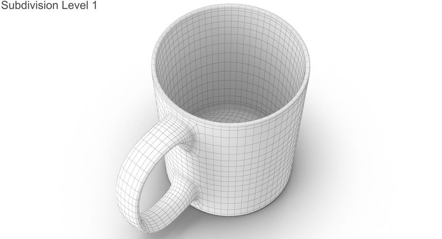 Empty Cup royalty-free 3d model - Preview no. 37