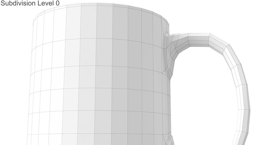 Empty Cup royalty-free 3d model - Preview no. 24