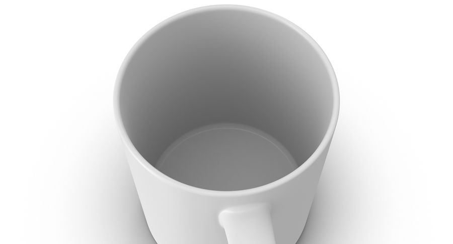 Empty Cup royalty-free 3d model - Preview no. 12