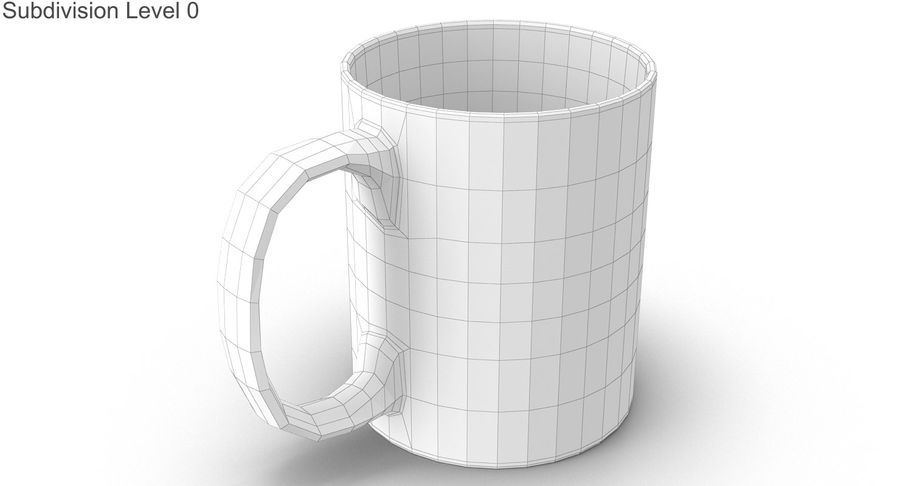 Empty Cup royalty-free 3d model - Preview no. 18