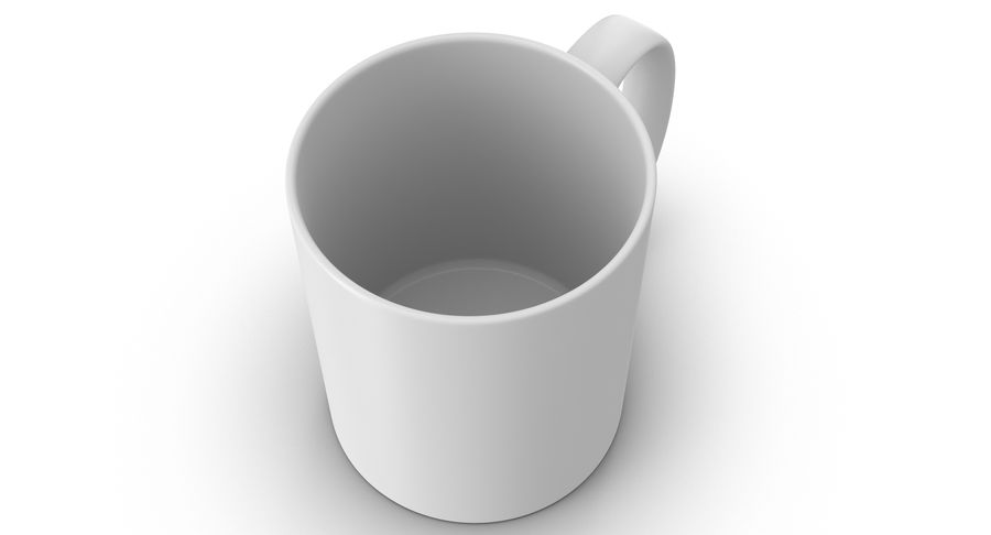 Empty Cup royalty-free 3d model - Preview no. 6