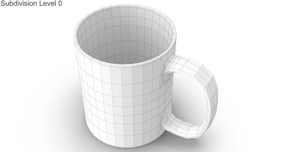 Empty Cup royalty-free 3d model - Preview no. 20