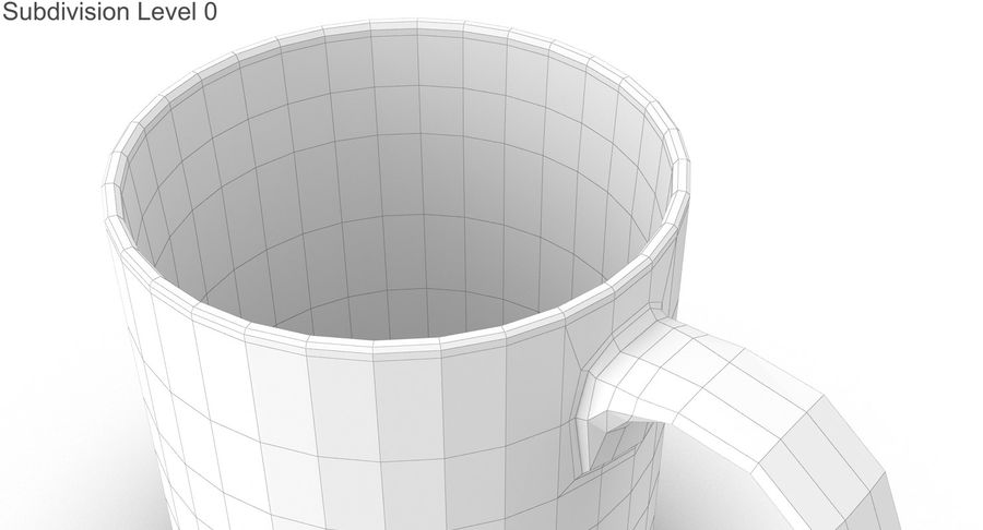 Empty Cup royalty-free 3d model - Preview no. 26