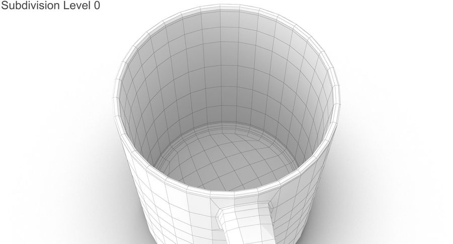 Empty Cup royalty-free 3d model - Preview no. 27