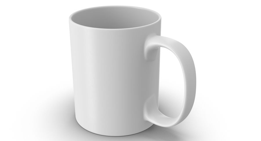 Empty Cup royalty-free 3d model - Preview no. 2