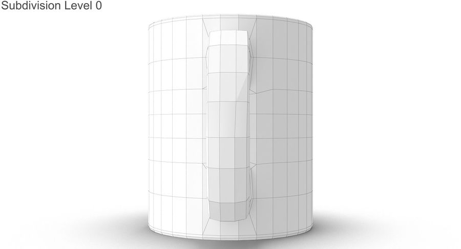 Empty Cup royalty-free 3d model - Preview no. 31