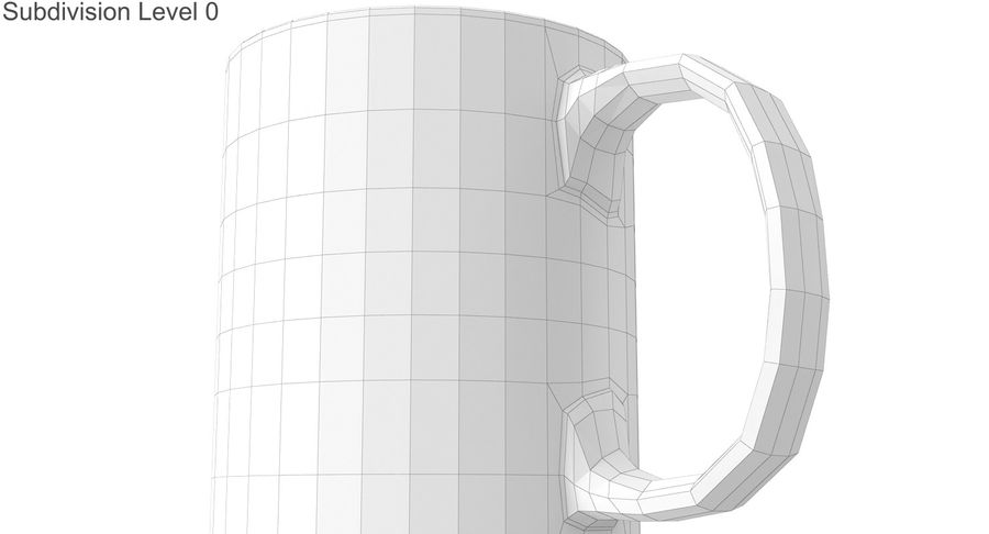 Empty Cup royalty-free 3d model - Preview no. 25
