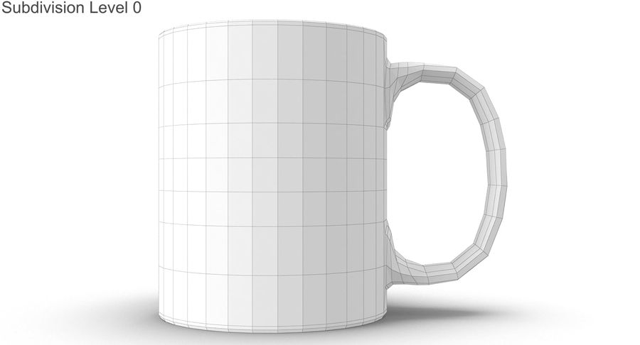Empty Cup royalty-free 3d model - Preview no. 30