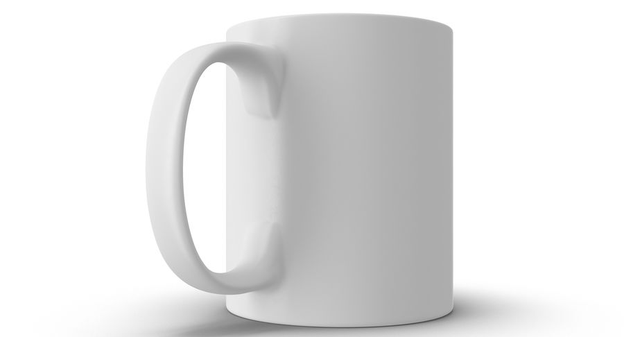 Empty Cup royalty-free 3d model - Preview no. 8