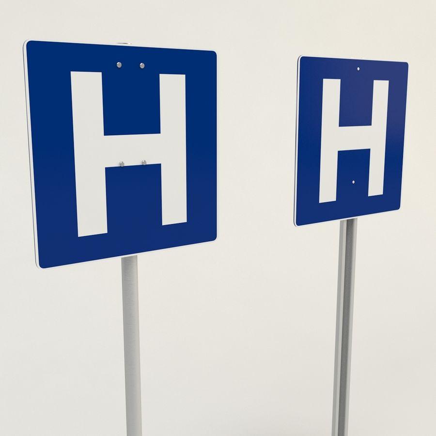 signos de hospital royalty-free modelo 3d - Preview no. 2