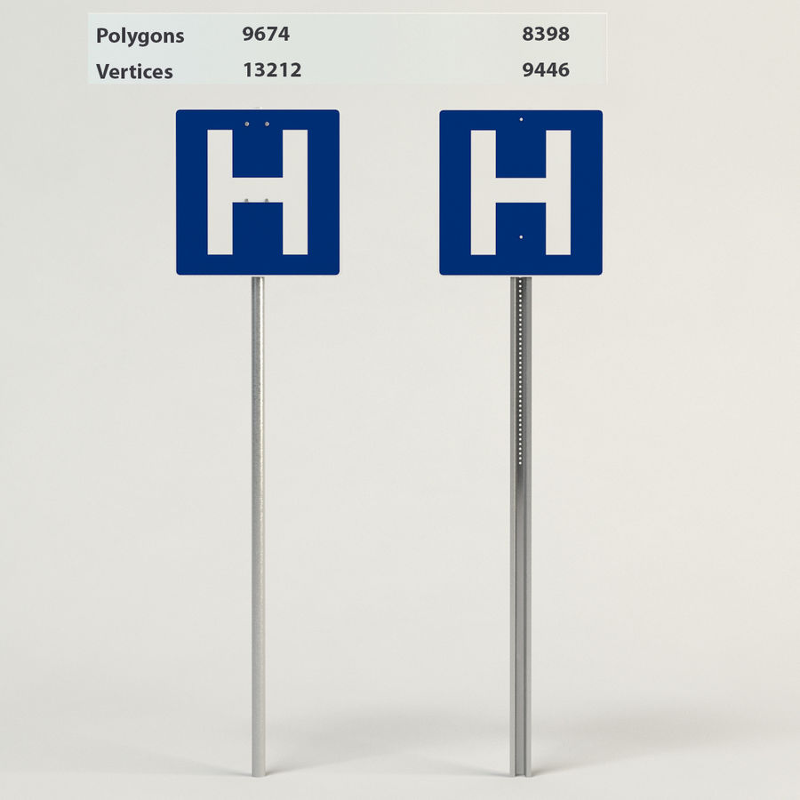 signos de hospital royalty-free modelo 3d - Preview no. 1