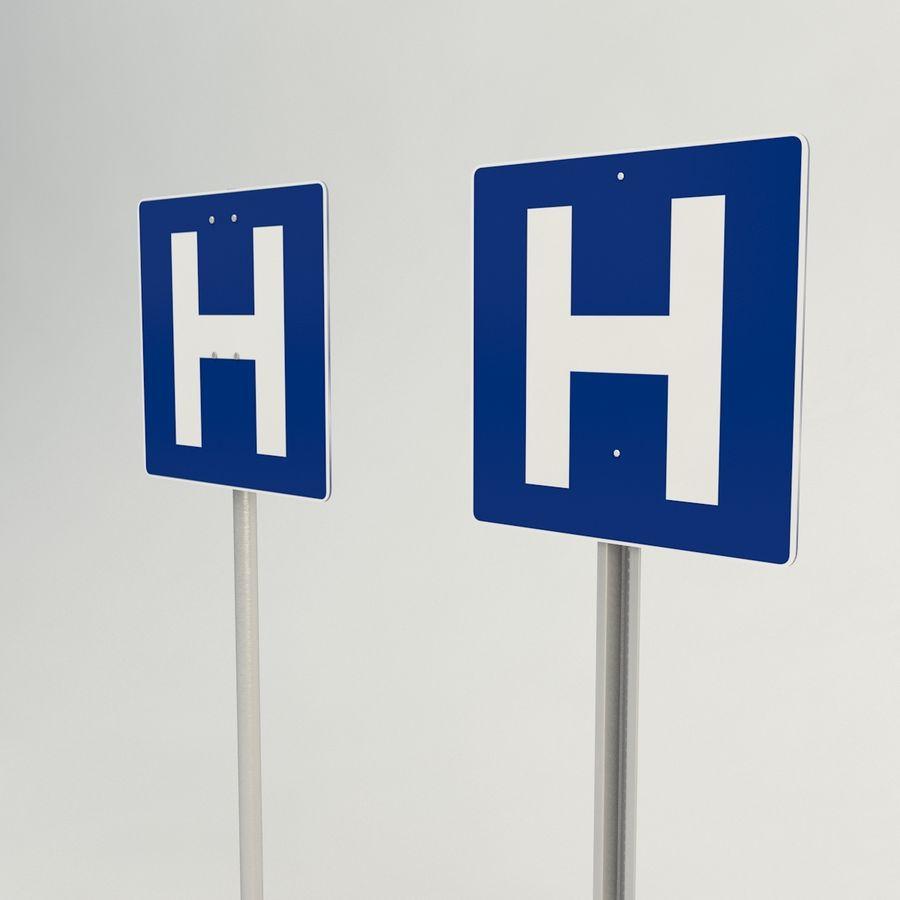 signos de hospital royalty-free modelo 3d - Preview no. 3