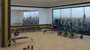 gimnasio modelo 3d