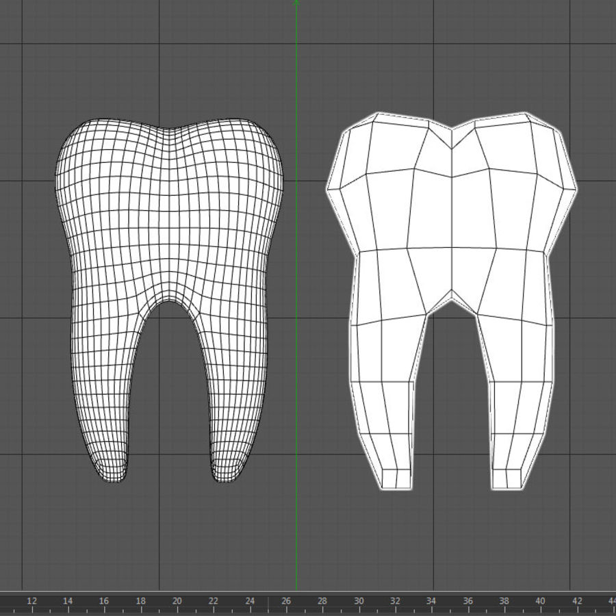 Dent royalty-free 3d model - Preview no. 7