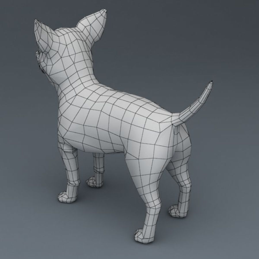 Chihuahua truqué royalty-free 3d model - Preview no. 8